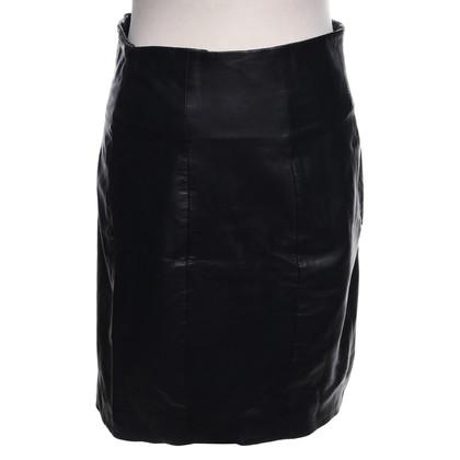 Gestuz Leren rok in zwart