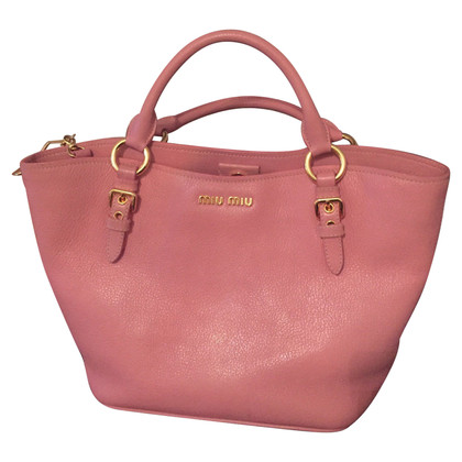Miu Miu Leather Bag in Pink