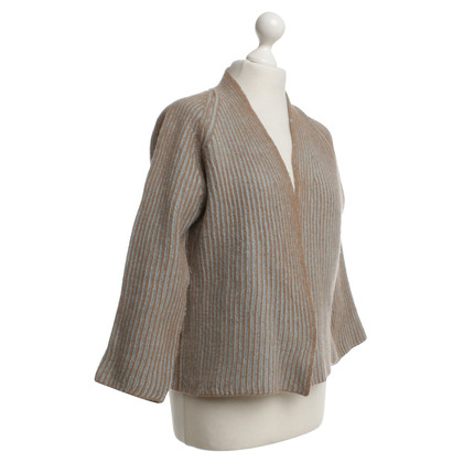 Riani Strickjacke in Beige/Türkis
