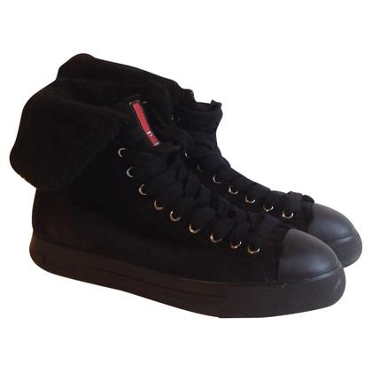 Prada Sneaker avec lambskin
