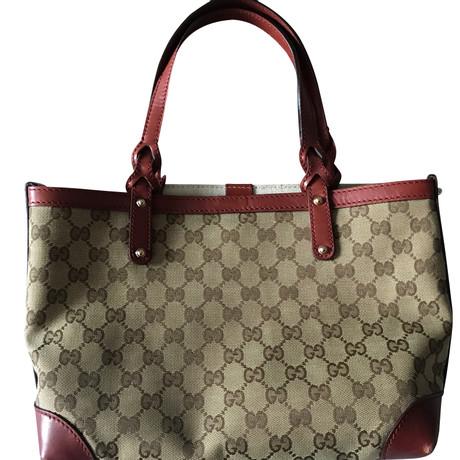 Rabatt Wählen Eine Beste Perfekt Gucci Tote Bag Beige XCi6I
