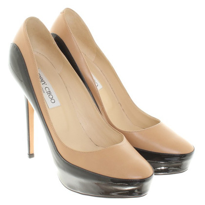 Jimmy Choo pumps in zwart / nude