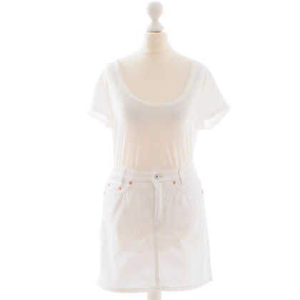 Marc Cain white denim skirt