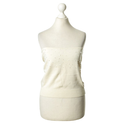 Max Mara Bandeau top in cream