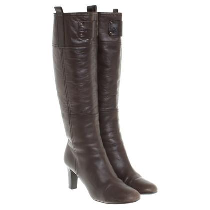 Burberry Stivali in marrone scuro