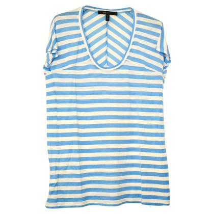 BCBG Max Azria Camicia con motivo a strisce