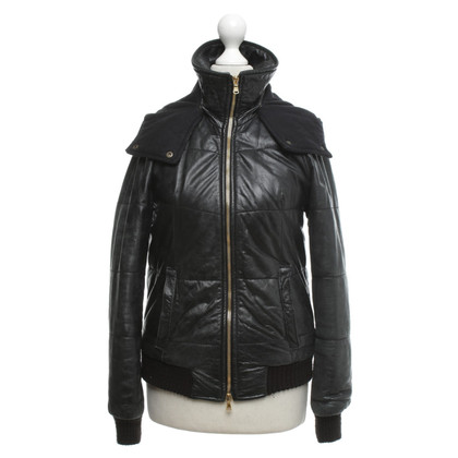 Giorgio Brato Quilted leather jacket in black