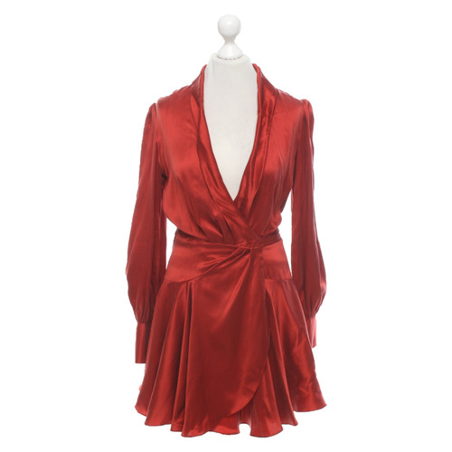 lowest price f887f 38c36 Zimmermann Vestito in Seta in Rosso - Second hand Zimmermann ...