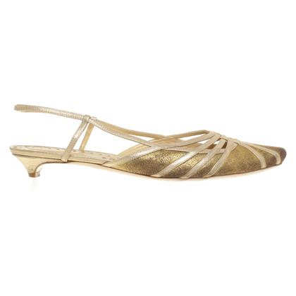 Bottega Veneta Gouden sandalen
