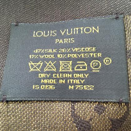 Louis Vuitton Panno Monogram Shine in marrone / oro