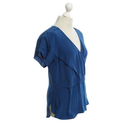 Derek Lam Mouw blouse in blauw