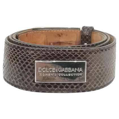 Dolce & Gabbana Python belt
