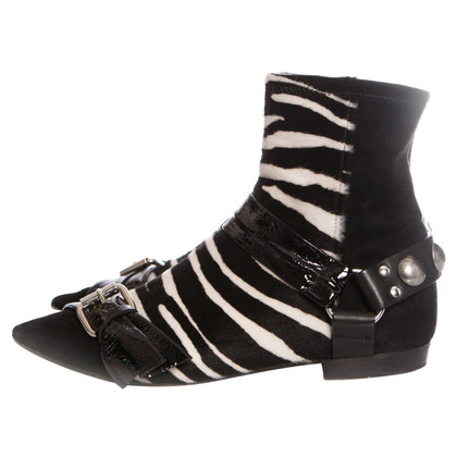 Isabel Marant Ankle boots with zebra pattern