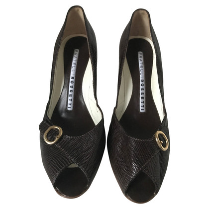 Fratelli Rossetti pumps made of lizard leather