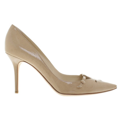 Jimmy Choo Lacquer leatherpumps in beige