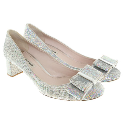 Miu Miu pumps con paillettes