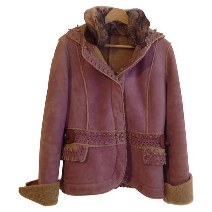 Ermanno Scervino Lambskin jacket in Mauve