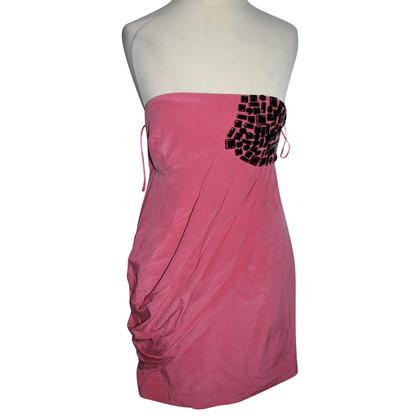 Tibi Bandeau dress with gemstone trim