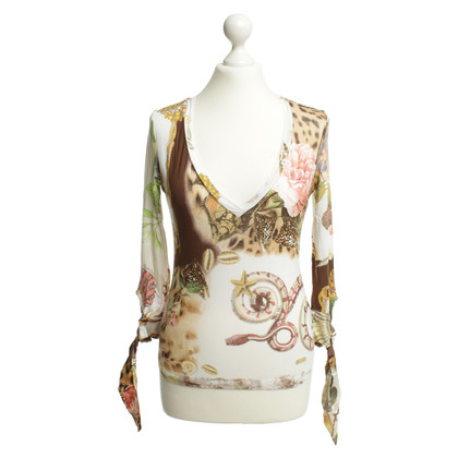 Roberto Cavalli Long-sleeved shirt with print