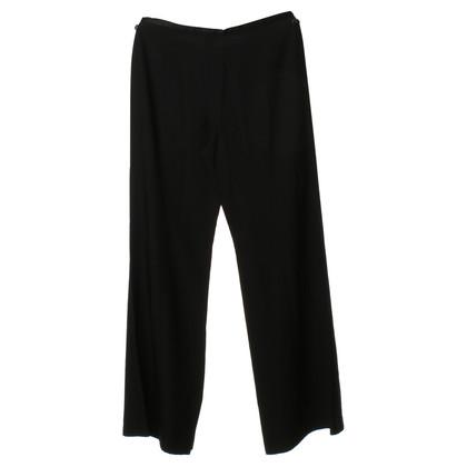 Armani Collezioni Black silk pants