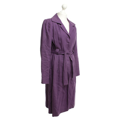 Agnès B. Linen coat purple