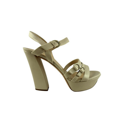 Casadei Beige high heel sandal in soft nappa leather