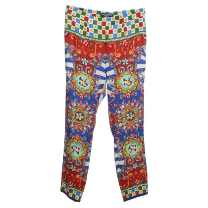 Dolce & Gabbana Colorful silk pants