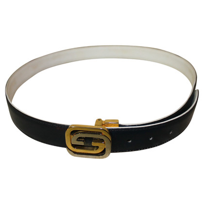 Golden Buckle riem in blauw