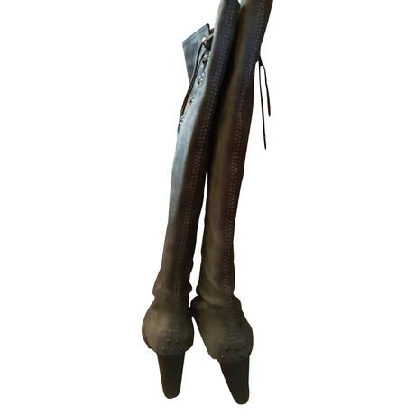 Tod's Stiefel aus Wildleder Grau Auslass Browse ayV0mkNHVt