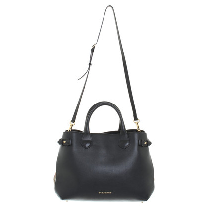 Burberry borsa in pelle nera