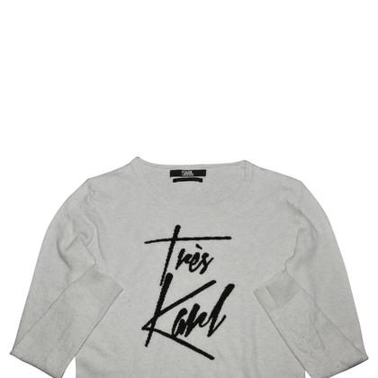 Karl Lagerfeld Maglione grigio / nero