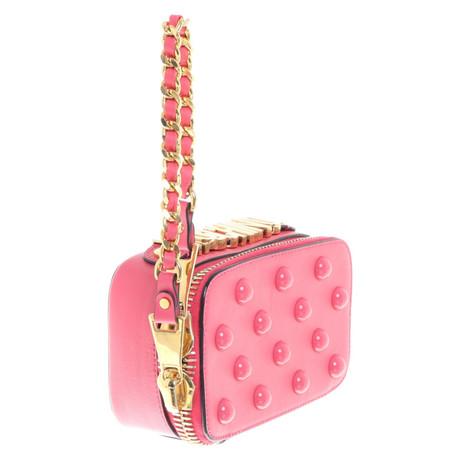 Moschino Umhängetasche aus Leder Rosa / Pink Rabatt Billig 6kY9z
