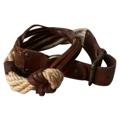 Dolce & Gabbana DOLCE AND GABBANA rope and leather belt