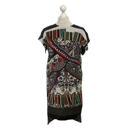 Just Cavalli Velvet dress with pattern mix