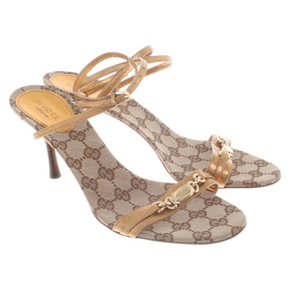 Gucci Sandals in metallic