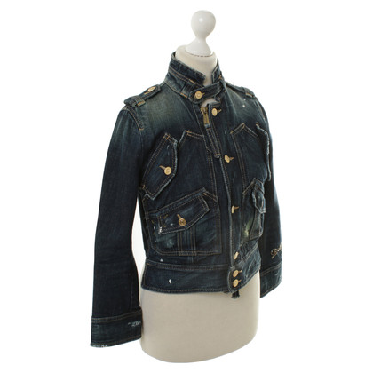 Dsquared2 Denim jasje biker look