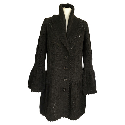 Diane von Furstenberg Gray wool knit coat