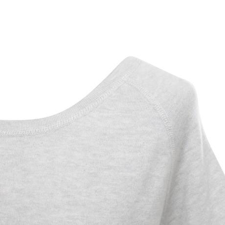Fabrikpreis Allude Strickoberteil mit kurzen Ärmeln Grau Spielraum Sehr Billig Billige Angebote LWGs8V