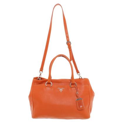 Prada Lederhandtasche in Orange