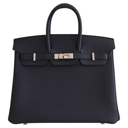 "Hermès ""Birkin Bag 25 Togo Leather Bleu Nuit PHW"""