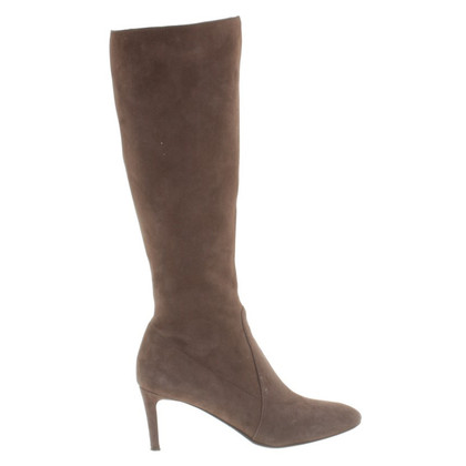 L'autre Chose Brown suede boots