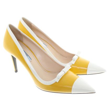 Prada pumps in yellow