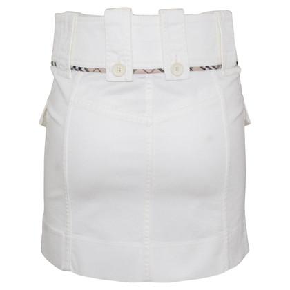 Burberry White miniskirt