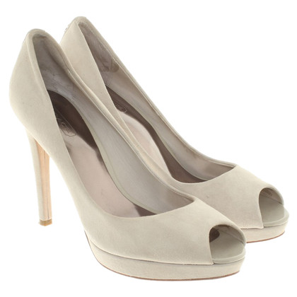 Coach Peeptoes in creamy white