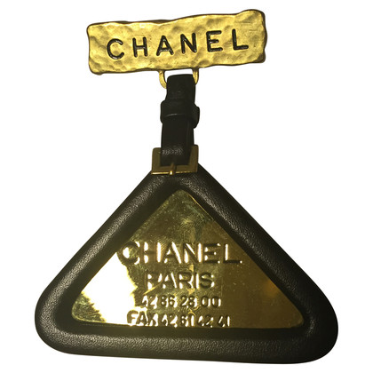 Chanel Spilla fiore leather