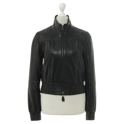 René Lezard Leather jacket in black