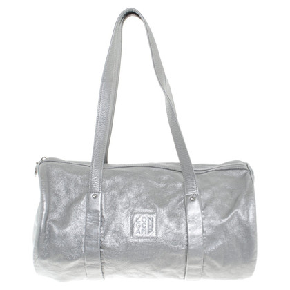 Longchamp Silver leather handbag