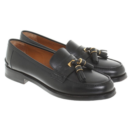 Bally pantofola in pelle in Black