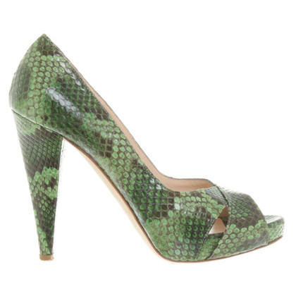 Bally Peep-toes reptile leather