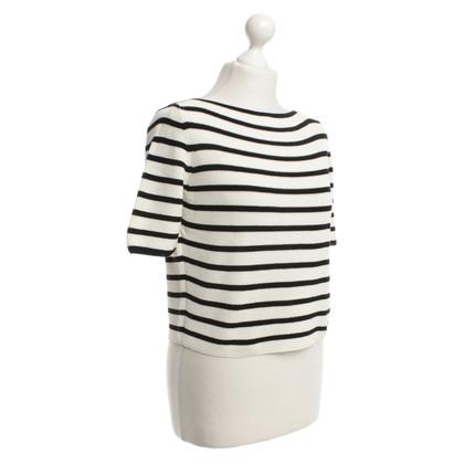 Strenesse Kurzarm-Pullover in Schwarz/Weiß